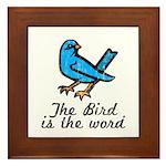 Bird is the Word Framed Tile