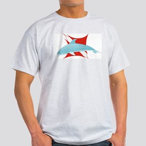 Dolphin on Dive Flag Ash Grey T-Shirt