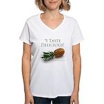 I Taste Delicious Women's V-Neck T-Shirt