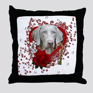 Valentines - Key to My Heart Throw Pillow