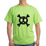 Skull & Crossbones Green T-Shirt