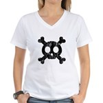 Skull & Crossbones Women's V-Neck T-Shirt