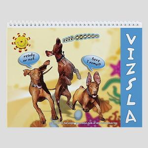 Hungarian Vizsla Cartoon Wall Calendar