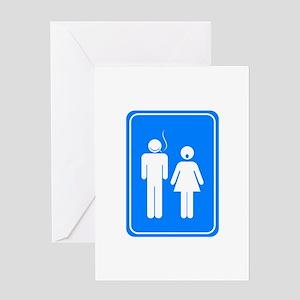 Bathrom Sign Humor Greeting Card