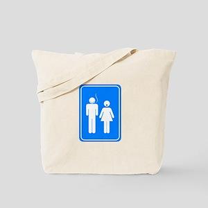 Bathrom Sign Humor Tote Bag