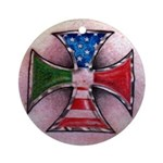 Maltese Cross American Italian Ornament