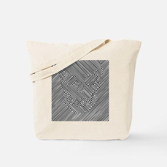 Skull Optical Illusion Tote Bag