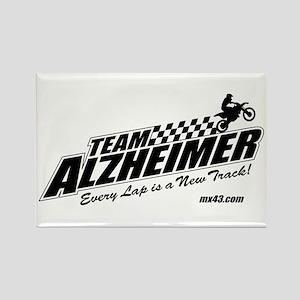 Team Alzheimer Rectangle Magnet