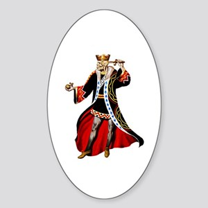 Suicide King Sticker (Oval)