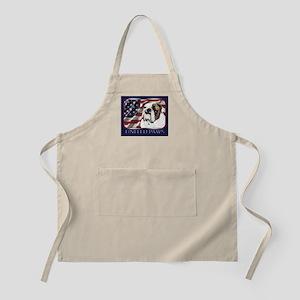 Bulldog United Paws Flag BBQ Apron