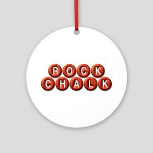 Rock Chalk BB Ornament (Round)