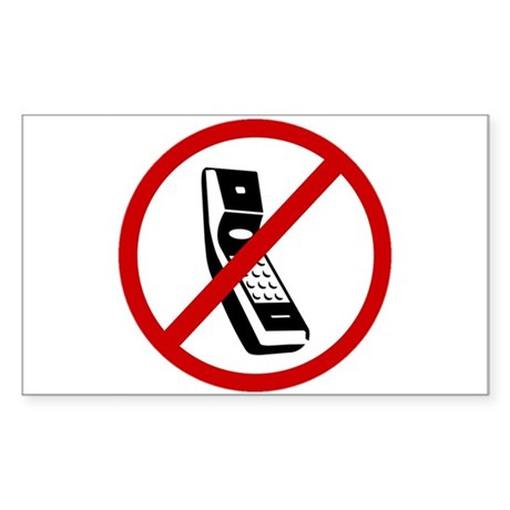 Anti Cell Phones Sticker (Rectangle)