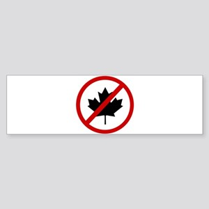 Anti Canadians Sticker (Bumper)