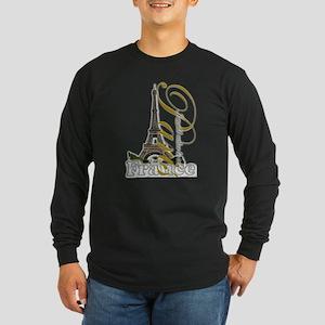 Paris, France - Long Sleeve Dark T-Shirt