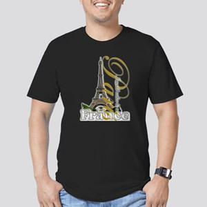 Paris, France - Men's Fitted T-Shirt (dark)