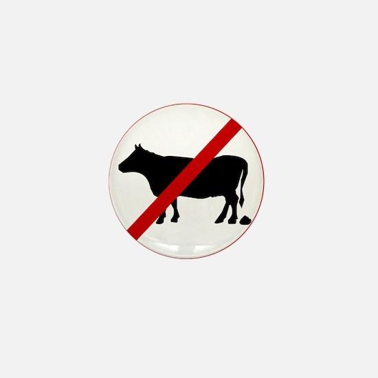 Anti Bull poop Mini Button