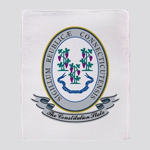 Connecticut Seal Throw Blanket