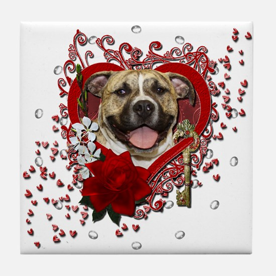 Valentines - Key to My Heart Tile Coaster