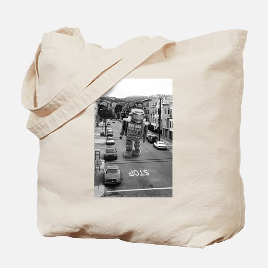 Robots in the Streets Tote Bag