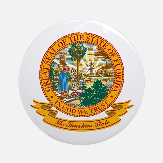 Florida Seal Ornament (Round)