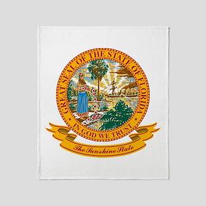 Florida Seal Throw Blanket