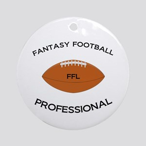Fantasy Football Professional Ornament (Round)