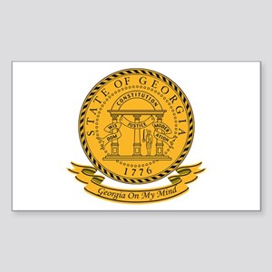 Georgia Seal Sticker (Rectangle)