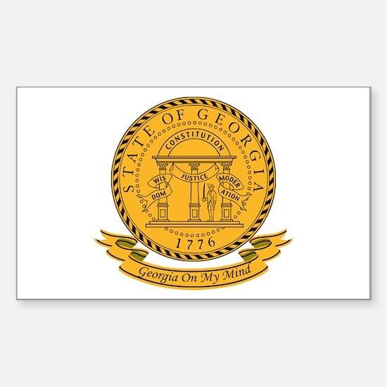Georgia Seal Sticker (Rectangle)