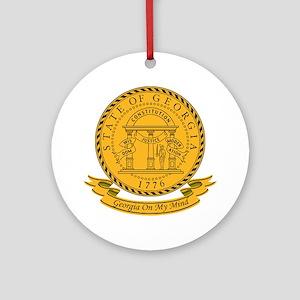 Georgia Seal Ornament (Round)
