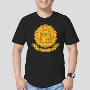 Georgia Seal Men's Fitted T-Shirt (dark)