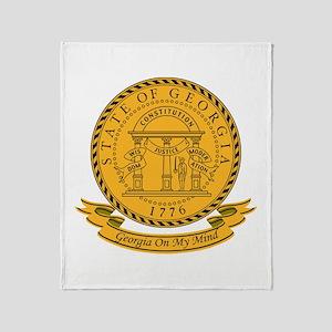 Georgia Seal Throw Blanket