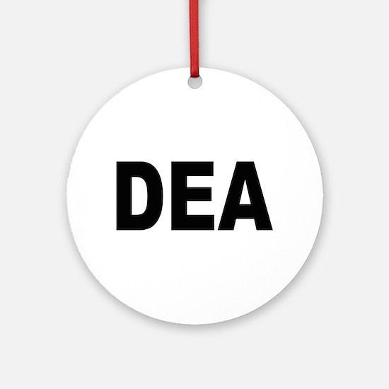 DEA Drug Enforcement Administration Ornament (Roun