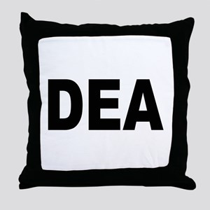 DEA Drug Enforcement Administration Throw Pillow