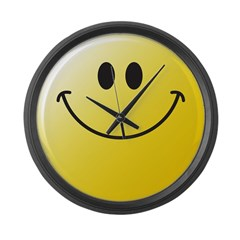 Classic Smiley Face Large Wall Clock