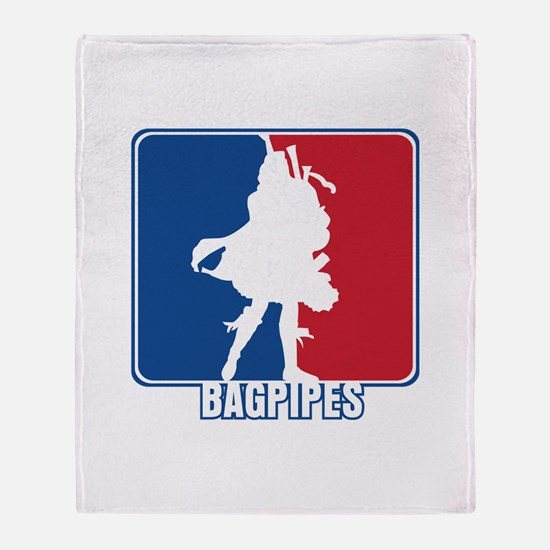 Major League Bagpipes Throw Blanket