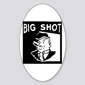 Big Shot Oval Sticker
