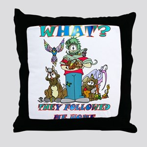 Too Many Pets ? Throw Pillow