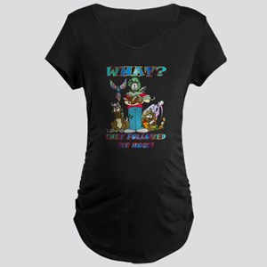 Too Many Pets ? Maternity Dark T-Shirt