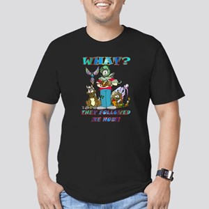 Too Many Pets ? Men's Fitted T-Shirt (dark)