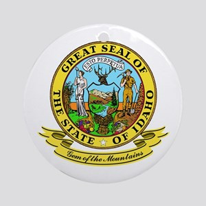 Idaho Seal Ornament (Round)