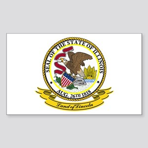 Illinois Seal Sticker (Rectangle)