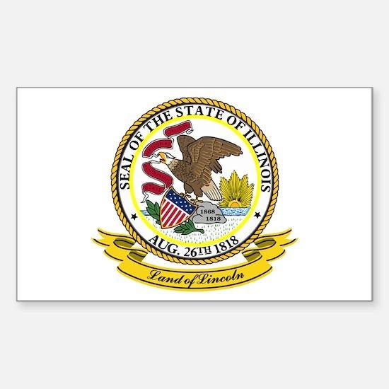 Illinois Seal Sticker (Rectangle)