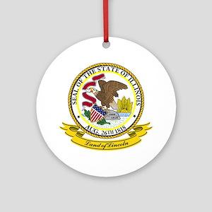 Illinois Seal Ornament (Round)