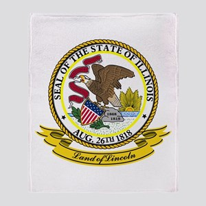 Illinois Seal Throw Blanket
