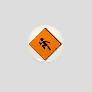 Streaker Sign Mini Button