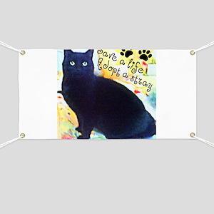 Stray Black Kitty Banner