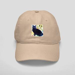 Stray Black Kitty Cap