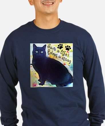 Stray Black Kitty T