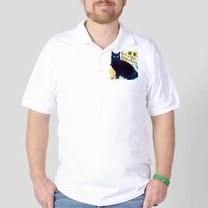 Stray Black Kitty Golf Shirt