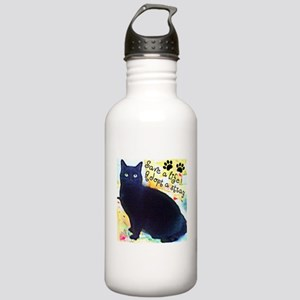 Stray Black Kitty Stainless Water Bottle 1.0L